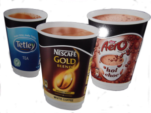 hot drinks available at peckish fish and chips