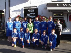 peckish fish and chips sponsor football kit