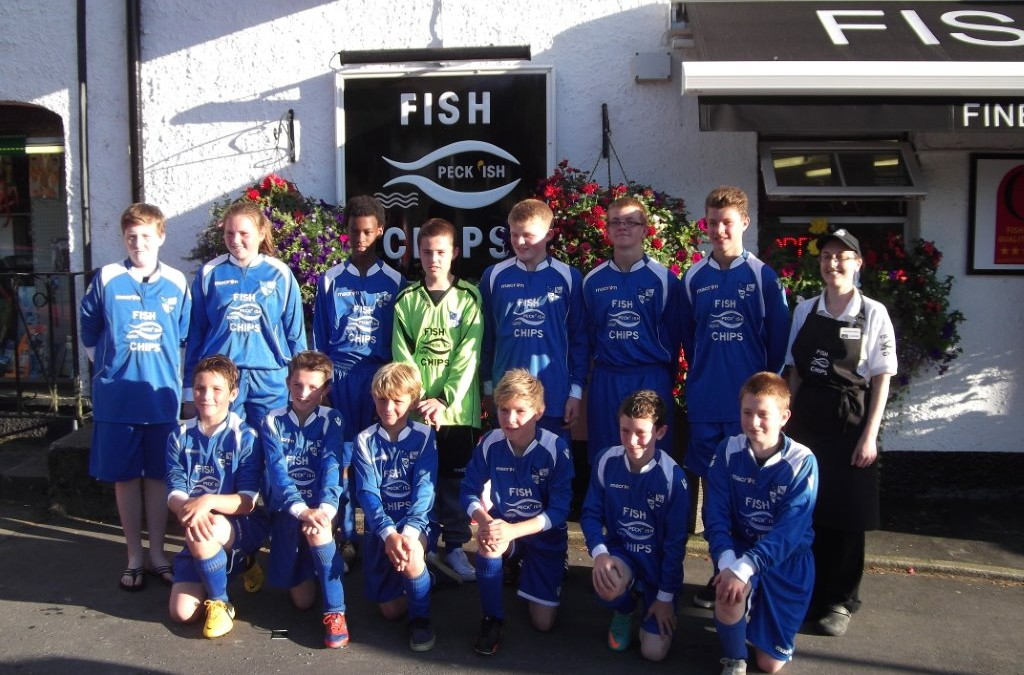 Peckish sponsors Camelford Under 14s football team
