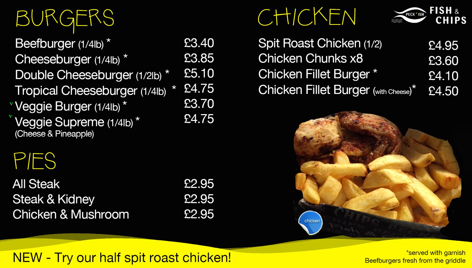 Peckish fish and chips menu 2
