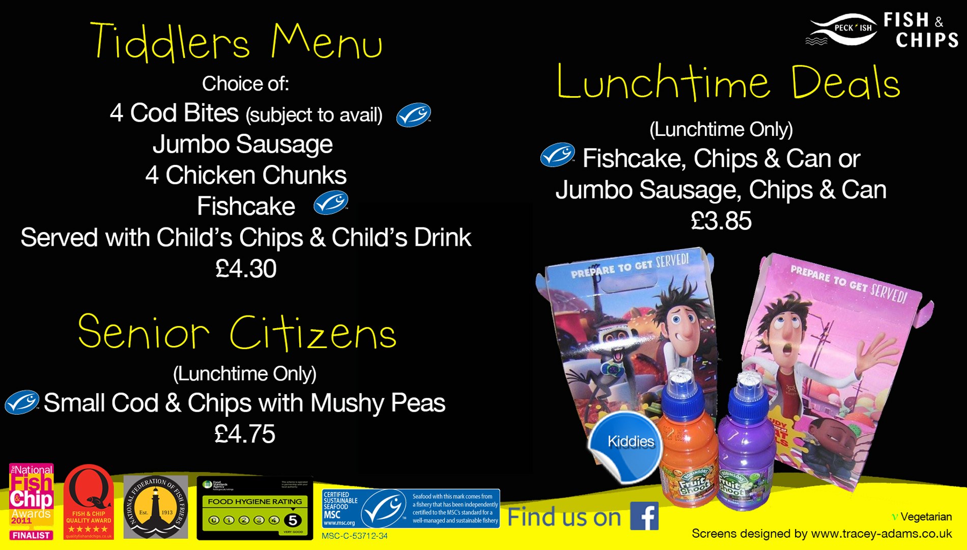 Peckish fish and chips menu 4
